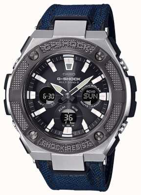 Casio | G-shock | G-Steel | Blue Cordura/Leather Strap | GST-W330AC-2AER