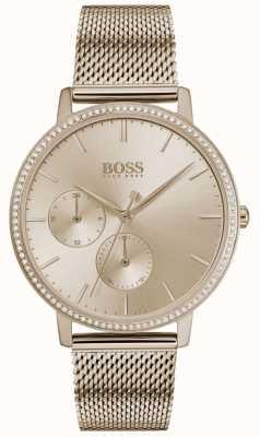 Boss | Women's Infinity | Rose Gold Mesh | Rose Gold Sunray Dial 1502519