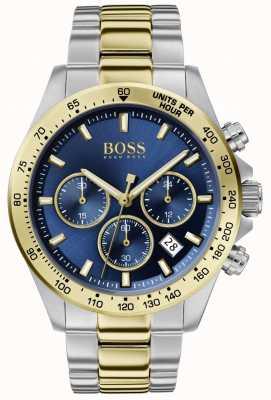 Boss | Men's Hero Sport Lux | Two-Tone Bracelet | Blue Dial | 1513767