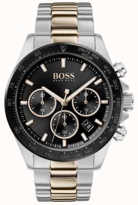 Boss   Men's   Hero Sport Lux   Two Tone Bracelet   Black Dial   1513757