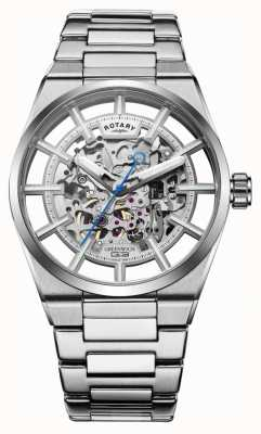 Rotary   Men's Greenwich G3 Automatic   Stainless Steel Bracelet   GB05210/06