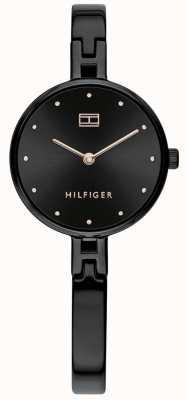 Tommy Hilfiger   Women's Kit   Black Stainless Steel Bracelet   Black Dial 1782136