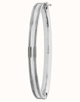 James Moore TH 9ct White Gold Thick Hinged Bangle BN369W