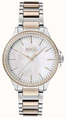 Boss   Diamonds For Her   Two-Tone Bracelet   Mother Of Of Pearl 1502524