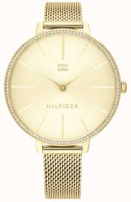 Tommy Hilfiger   Women's Kelly   Gold Mesh Bracelet   Gold Dial   1782114