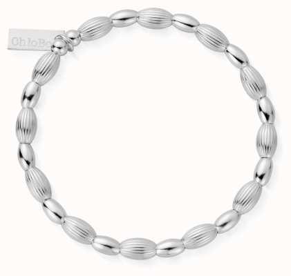 ChloBo | Sterling Silver 'Double Rice' Bracelet | SBCOD