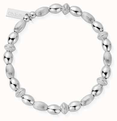ChloBo | Sterling Silver 'Mini Oval Disc' Bracelet | SBMOD
