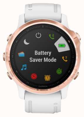 Garmin Fenix 6S Pro   Multisport Smartwatch   Rose Gold White Strap 010-02159-11