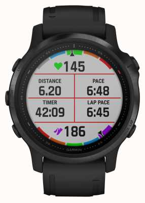 Garmin Fenix 6S Pro Gorilla Glass | Multisport Smartwatch | Black Rubber Strap 010-02159-14
