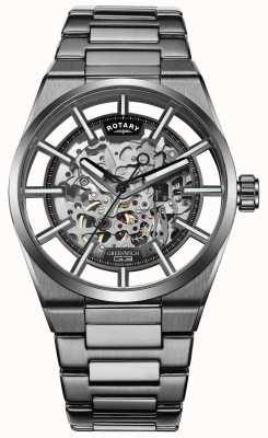 Rotary | Men's Greenwich Automatic Skeleton | Stainless Steel | GB05215/04