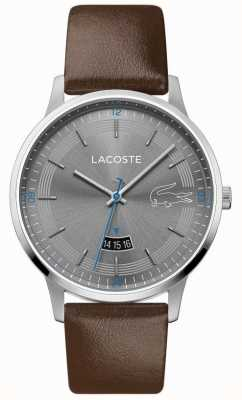 Lacoste | Men's Madrid | Brown Leather Strap | Grey Dial | 2011033