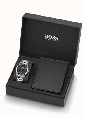 Boss | Mens | Watch And Black Leather Wallet Set | 1570093