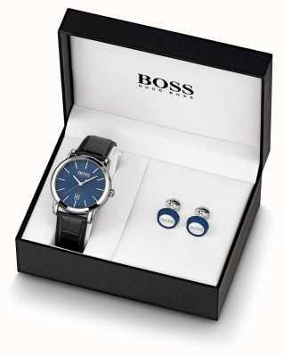 Boss | Mens | Blue Watch And Cufflink Set | 1570092