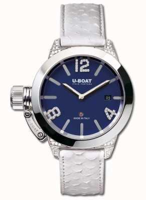 U-Boat Classico 40 Ss Blue White Diamonds 7077