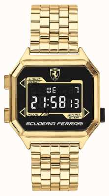 Scuderia Ferrari | Men's Digidrive | Gold Plated Bracelet | Black Dial | 0830705