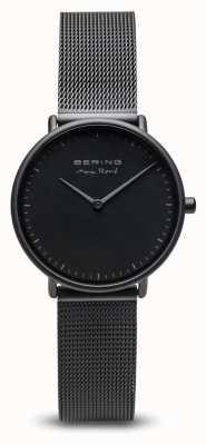 Bering   Max René   Women's Mat Black   Black Steel Mesh Bracelet   15730-123