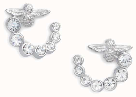 Olivia Burton   Bejewelled Bee Swirl   Swarovski   Earrings   OBJAME163