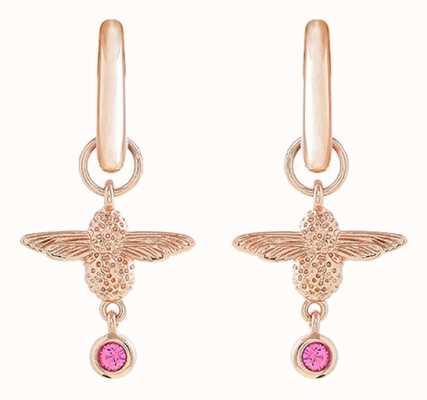 Olivia Burton   Mum To Bee   Huggie Hoop   Pink And Rose Gold   Earrings   OBJAME148