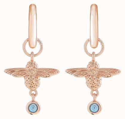 Olivia Burton   Mum To Bee   Huggie Hoop   Blue And Rose Gold   Earrings   OBJAME147