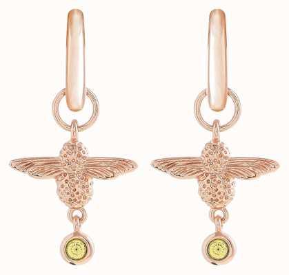 Olivia Burton   Mum To Bee   Huggie Hoop   Yellow And Gold   Earrings   OBJAME166