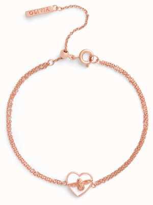Olivia Burton   Love Bug   White And Rose Gold   Chain Bracelet   OBJLHB08