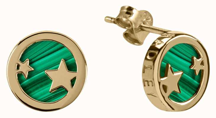 Radley Jewellery Stay Magical | Gold Plated Malachite Stud Earrings | RYJ1102