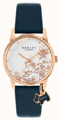 Radley Botanical Floral   Navy Leather Strap   Silver Floral Dial   RY2880