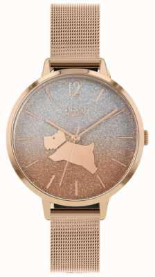 Radley Angel Walk | Rose Gold Mesh Bracelet | Two-Tone Glitter Dial RY4402
