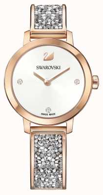 Swarovski | Cosmic Rock | Rose Gold Bangle Bracelet | White Dial | 5376092