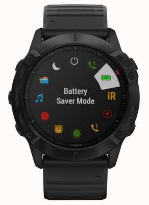 Garmin Fenix 6X Pro   Black Silicone   Multisport Smartwatch 010-02157-01
