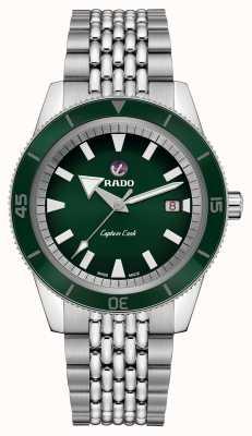 RADO XL 'Captain Cook' Stainless Steel Bracelet Green Dial R32505313