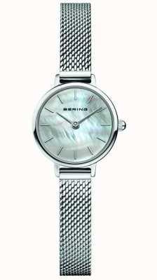 Bering   Women's Classic   Steel Mesh Bracelet   Mother Of Pearl 11022-004