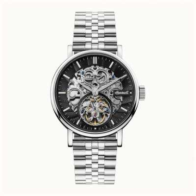 Ingersoll | The Charles Automatic | Black Skeleton Dial | Steel Strap I05804