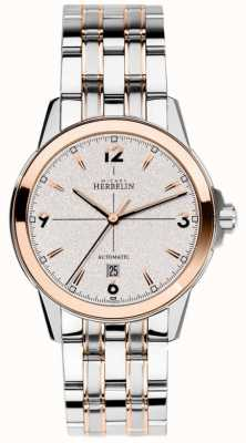 Michel Herbelin Mens Automatic Ambassador Stainless Steel And Rose PVD 1650/BTR12