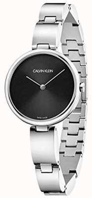 Calvin Klein | Women's Stainless Steel Bracelet | Black Dial | K9U23141