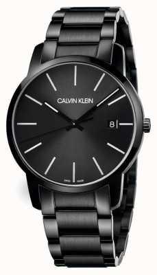 Calvin Klein | Men's City | Black Stainless Steel Bracelet | Black Dial | K2G2G4B1