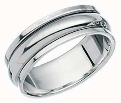 Elements Silver Silver Plain Band Rotating Ring R109