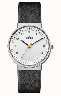 Braun | Womens | Simple Quartz | Black Leather Strap | BN0031WHBKL