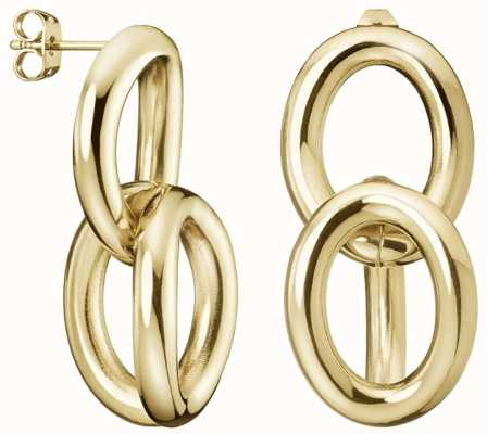 Calvin Klein | Statement | Gold Tone | Steel Drop Earrings | KJALJE100100