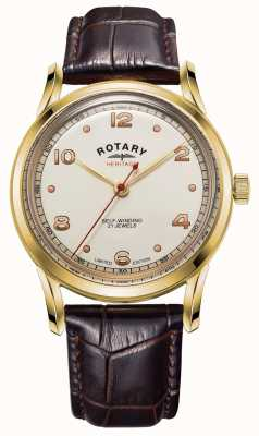 Rotary Mens | Limited Edition | Heritage | Brown Leather Strap GS05143/03