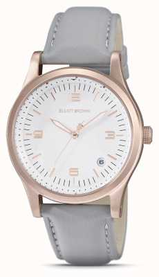 Elliot Brown | Women's | Kimmeridge | White Dial | Taupe Strap | 405-012-L62