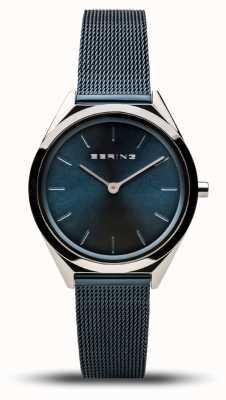 Bering   Unisex   Ultra-Slim   Navy Mesh Bracelet   17031-307