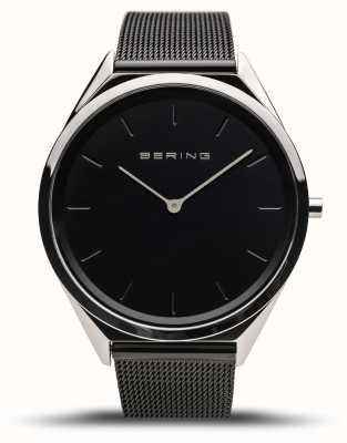 Bering   Unisex   Ultra-Slim   Black Mesh Bracelet   17039-102