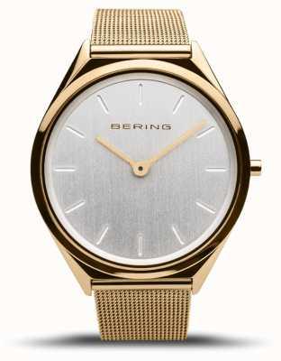 Bering   Unisex   Ultra-Slim   Gold Mesh Bracelet   17039-334