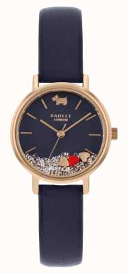 Radley | Women's Navy Leather Strap | Floating Stone Dial | RY2990