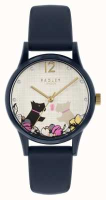 Radley | Women's Navy Silicone Strap | Floral Dog Motif Dial RY2983