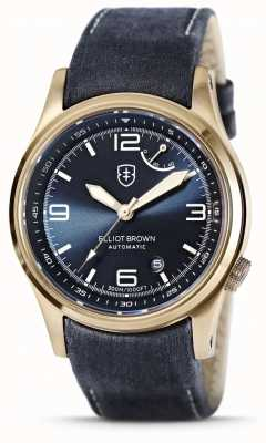 Elliot Brown | Tyneham | Blue Dial | Tumbled Blue Leather 305-D06-L23