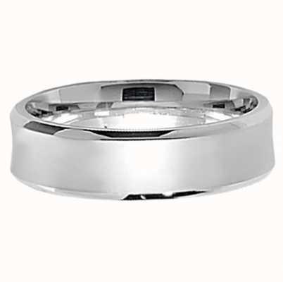 James Moore TH Silver 6mm Satin Wedding Band Size UK O G7172/O