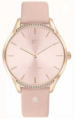 Tommy Hilfiger   Women's Gray   Pink Leather Strap   Pink Dial   1782215