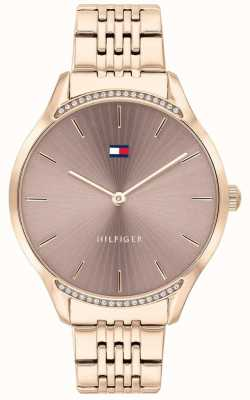 Tommy Hilfiger   Women's Gray   Rose Gold Ion-Plated Bracelet   Grey Dial 1782212